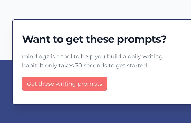 A picture of a button that allows you to create your journal and start your writing prompts
