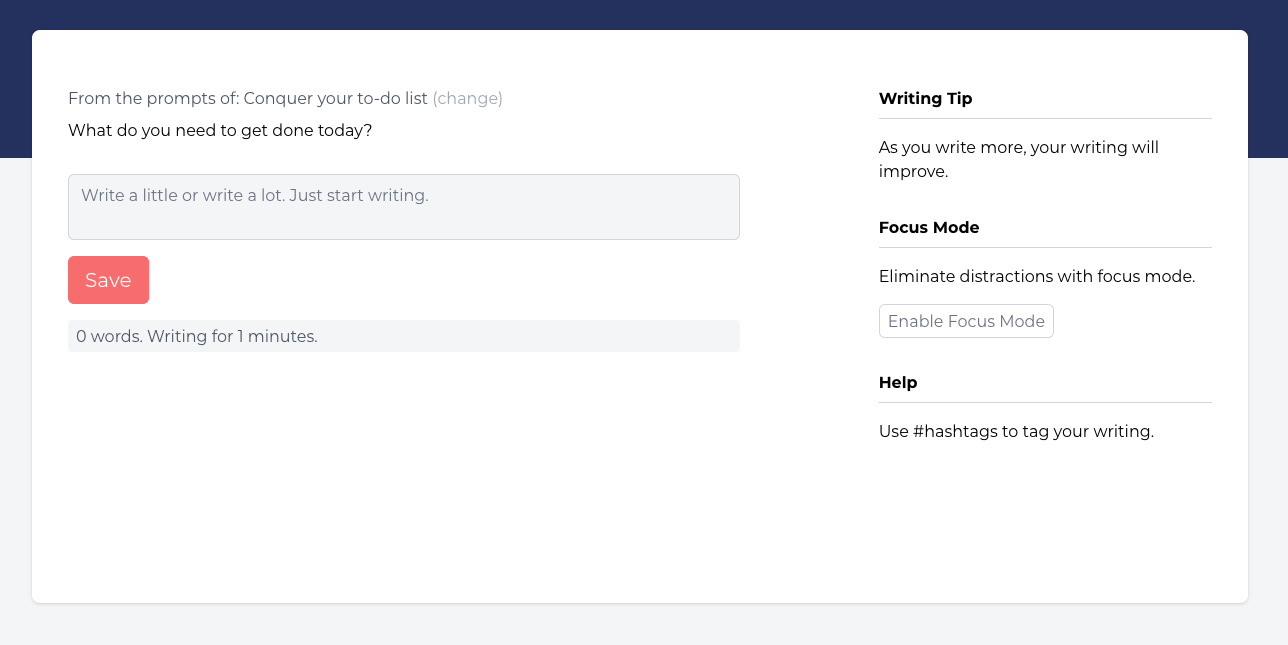 A picture of the mindlogz journal writing tool.